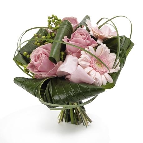 Μπουκέτο με ρόζ τριαντάφυλλα - Γεύση από Παρίσι