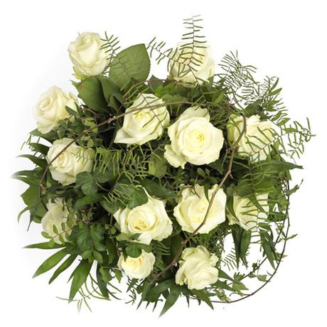 Μπουκέτο με 13 λευκά τριαντάφυλλα - Καμάρι της νύφης