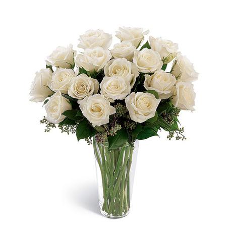 Μπουκέτο με 20 λευκά τριαντάφυλλα - Λευκό κύμα