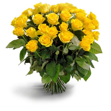 Μπουκέτο με κίτρινα τριαντάφυλλα