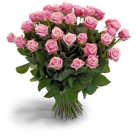 Μπουκέτο με ρόζ τριαντάφυλλα - Φημισμένη Ομορφιά
